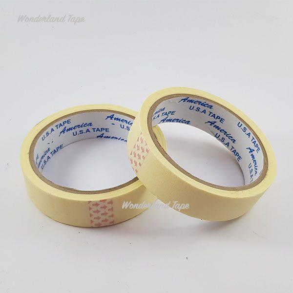 Băng dính giấy mầu vàng 1,5 cm