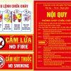 Bộ Nội Quy Tiêu lệnh phòng cháy chữa cháy